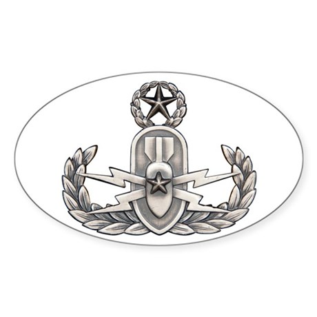 Navy Master EOD Sticker (Oval)