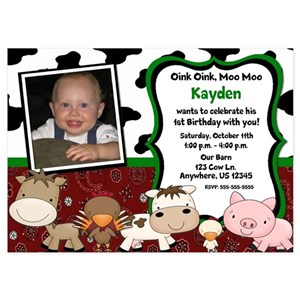 First Birthday Invitations And Announcements