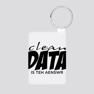 Clean Data is the Answer Aluminum Photo Keychain