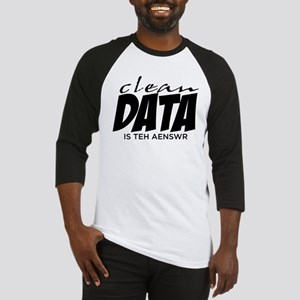 Clean Data is the Answer Baseball Jersey