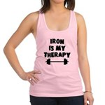 Iron is my therapy Racerback Tank Top