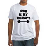 Iron is my therapy Fitted T-Shirt