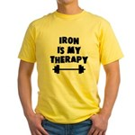 Iron is my therapy Yellow T-Shirt