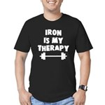 Iron is my therapy Men's Fitted T-Shirt (dark)