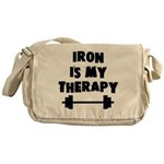Iron is my therapy Messenger Bag