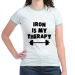 Iron is my therapy Jr. Ringer T-Shirt