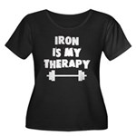 Iron is my therapy Women's Plus Size Scoop Neck Da