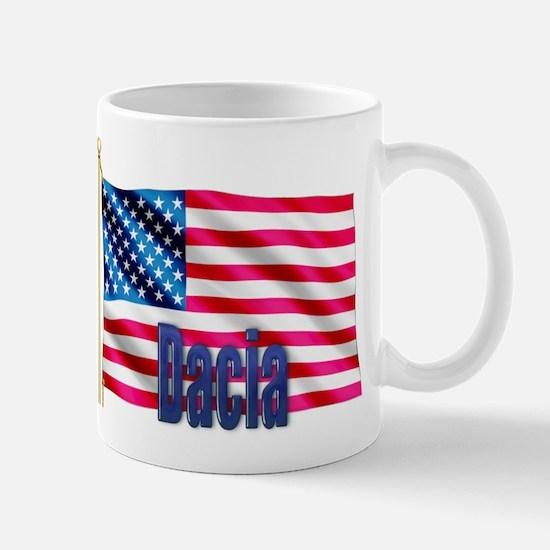 Dacia USA Flag Gift Mug