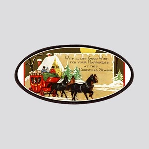 Christmas Horse and Buggy Patches