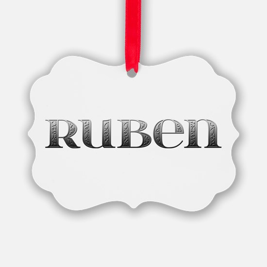 Ruben Carved Metal Ornament