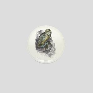 Snowy Owl Bird Mini Button