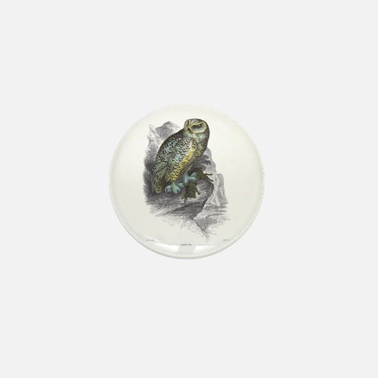 Snowy Owl Bird Mini Button