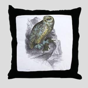 Snowy Owl Bird Throw Pillow