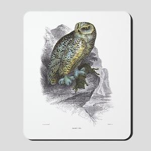 Snowy Owl Bird Mousepad