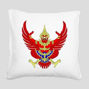 Thai Garuda Symbol Square Canvas Pillow