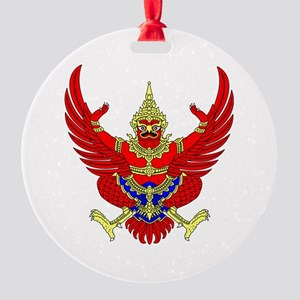 Thai Garuda Symbol Round Ornament