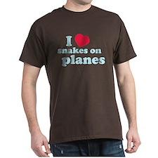 Snakes on a Plane Dark T-Shirt