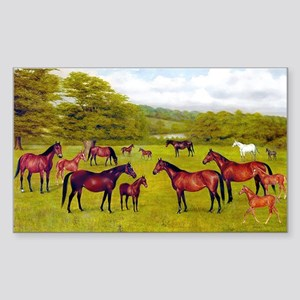 MARES & FOALS Rectangle Sticker