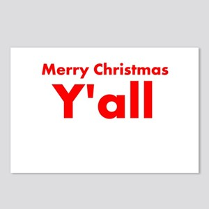 Merry Christmas Yall Postcards (Package of 8)