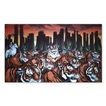New York TigersPainting  Sticker (Rectangle 10 pk)