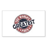 Worlds Greatest Papa Sticker (Rectangle 50 pk)