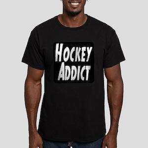 Hockey Addict Men's Fitted T-Shirt (dark)