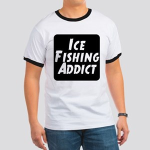 Ice Fishing Addict Ringer T