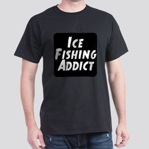Ice Fishing Addict Dark T-Shirt