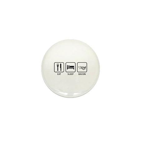 Eat Sleep Bacon Mini Button (10 pack)
