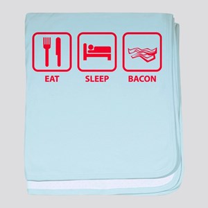 Eat Sleep Bacon baby blanket