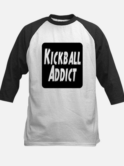 Kickball Addict Kids Baseball Jersey