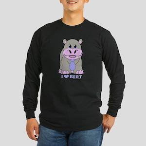 Bert The Hippo NCIS Long Sleeve Dark T-Shirt