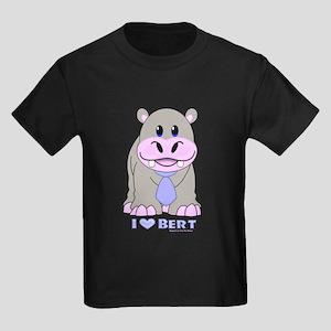 Bert The Hippo NCIS Kids Dark T-Shirt