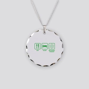 Eat Sleep BBT Necklace Circle Charm