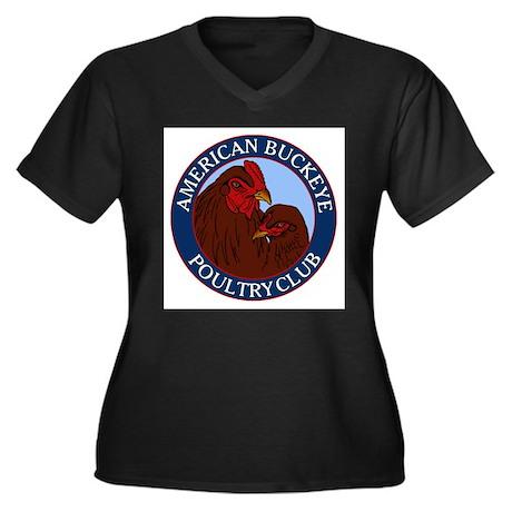 ABPC Logo Women's Plus Size V-Neck Dark T-Shirt