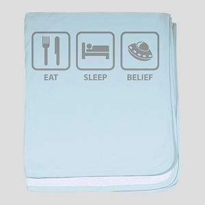 Eat Sleep Belief baby blanket