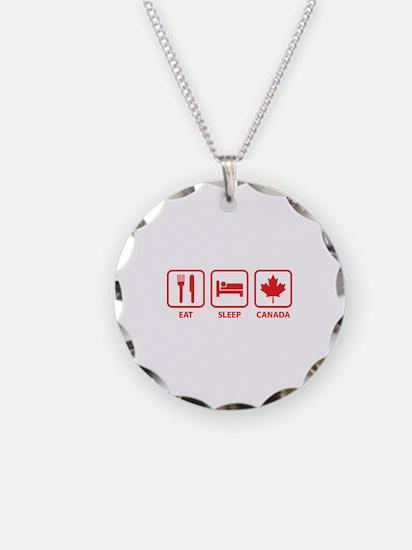 Eat Sleep Canada Necklace