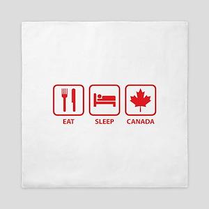 Eat Sleep Canada Queen Duvet