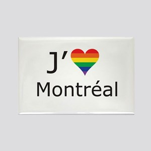 J'aime a Montreal Rectangle Magnet