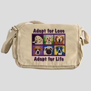 Adopt for Love, Adopt for Life Messenger Bag