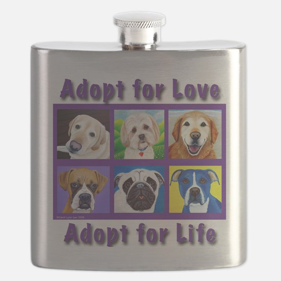 Adopt for Love, Adopt for Life Flask
