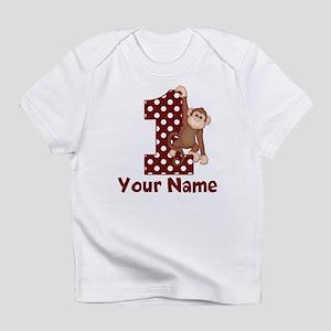 1st Birthday Monkey Red Infant T-Shirt