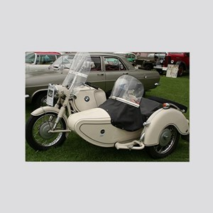 BMW Motorcycle with Sidecar Rectangle Magnet
