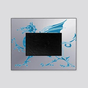 Blue Silver Dragon Picture Frame