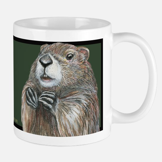 Emerging Groundhog Mug Mugs