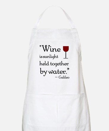 Wine is sunlight held together by water Apron