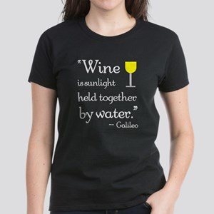 Wine is sunlight held together by water Women's Da