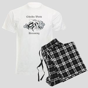 Cthulthu Waits Dreaming Men's Light Pajamas