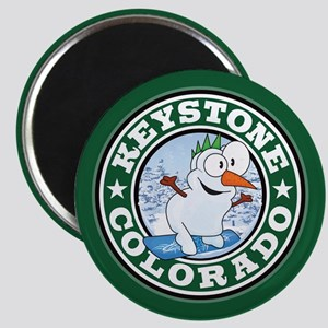 Keystone Snowman Circle Magnet