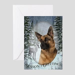 German Shepherd Christmas Cards (Pk of 20)